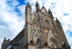 The cathedral of Orvieto royalty free stock image