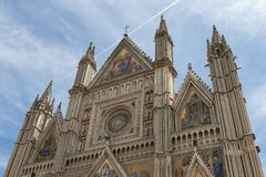 Cathedral of Orvieto Stock Photo