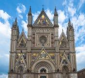 The Cathedral of Orvieto (Duomo di Orvieto), Umbria, Italy Stock Photography