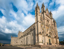 The Cathedral of Orvieto (Duomo di Orvieto), Umbria, Italy Royalty Free Stock Images