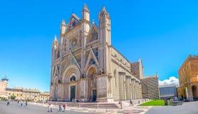 Cathedral of Orvieto (Duomo di Orvieto), Umbria, Italy Stock Images