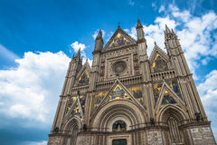 The Cathedral of Orvieto (Duomo di Orvieto), Umbria, Italy Stock Image