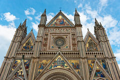 Cathedral of Orvieto town, Umbria, Italy Royalty Free Stock Photography