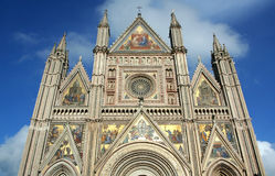 Cathedral of Orvieto in Umbria in Italy. Stock Photos