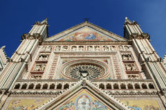 Cathedral of Orvieto in Umbria in Italy. Stock Photography