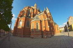Cathedral in Osijek. Cathedral of st.Peter and Paul in Osijek Stock Photo