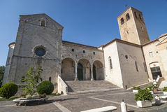 Cathedral of Osimo (Ancona). Osimo (Ancona, Marches, Italy) - The white ancient Cathedral Stock Images