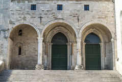 Cathedral of Osimo (Ancona) Stock Image
