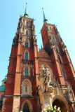 Cathedral in ostrow tumski in wroclaw Stock Images