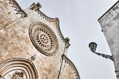 The cathedral in Ostuni Stock Images