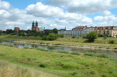 Cathedral and other buildings in Poznan, Poland Royalty Free Stock Image