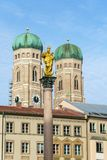 Cathedral of Our Dear Lady, The Frauenkirche in Munich city, Ger Stock Photo