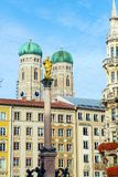 Cathedral of Our Dear Lady, The Frauenkirche in Munich city, Ger Stock Images