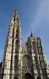 Cathedral of Our Lady. In Antwerp, Belgium royalty free stock images