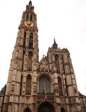 Cathedral of Our Lady. Front part of Cathedral of Our Lady , Antwerpen - Belgium Stock Image