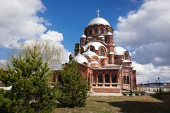 The Cathedral of our lady of All sorrows Joy is the largest Church in Sviyazhsk stock photo
