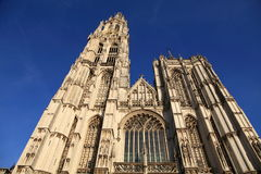 Cathedral of our Lady at Antwerp Royalty Free Stock Photos
