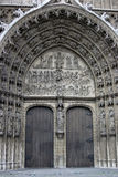 Cathedral of our Lady in Antwerp. Bronze door entry to famous Vrouwekathedraal - Cathedral of our Lady in Antwerp Stock Images