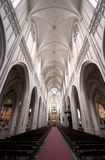 The Cathedral of our Lady, Antwerp. Cathedral Interior in Antwerp, Belgium Royalty Free Stock Image