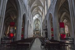 The Cathedral of Our Lady in Antwerp royalty free stock image