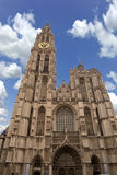 Cathedral of Our Lady in Antwerp, Belgium. Historic Cathedral of Our Lady in Antwerp, Belgium Stock Images