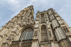 Cathedral of Our Lady in Antwerp, Belgium. Facade of Cathedral of Our Lady in Antwerp, Belgium (Onze-Lieve-Vrouwekathedraal Royalty Free Stock Image