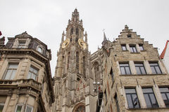 Cathedral of Our Lady in Antwerp, Belgium Stock Images