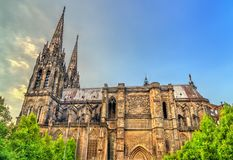 Cathedral of Our Lady of the Assumption of Clermont-Ferrand royalty free stock photo