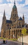 Cathedral of Our Lady of Bayeux in Calvados Normandy France Royalty Free Stock Images