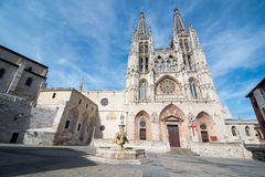 The cathedral Our Lady of Burgos Stock Images