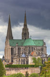 The Cathedral of Our Lady of Chartres,France. This is an image of The Cathedral of Our Lady of Chartres which is one of the finest example in all France of the Royalty Free Stock Photos