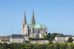 Cathedral of Our Lady of Chartres royalty free stock photo