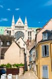 Cathedral of Our Lady of Chartres in France royalty free stock photography