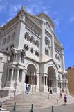 Romanesque Saint Nicholas Cathedral in Monaco city Stock Images