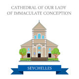 Cathedral of Our Lady of Immaculate Seychelles Fla Royalty Free Stock Photo