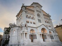 The Cathedral of Our Lady Immaculate ,  but sometimes called Saint Nicholas Cathedral. Name of the old church which was demolished in 1874, Monaco stock photo