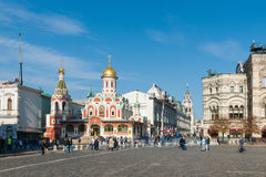 Cathedral of Our Lady of Kazan by the Red Square Stock Photography