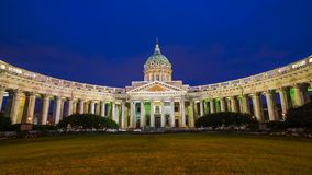 Cathedral of Our Lady of Kazan, St. Petersburg, Russia stock photography