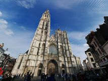 Cathedral of Our Lady - looks so huge Stock Photography