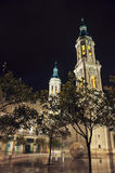 Cathedral of Our Lady of Pillar in Saragossa Royalty Free Stock Photo
