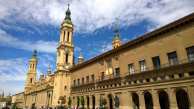 Cathedral of Our Lady of the Pillar in Zaragoza, Spain Royalty Free Stock Photography