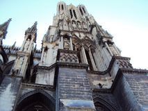 Cathedral of Our Lady of Reims stock photos