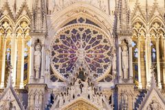 Cathedral of Our Lady of Reims stock photography