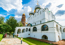 Cathedral of Our Lady of Smolensk and the bell tower Royalty Free Stock Photos