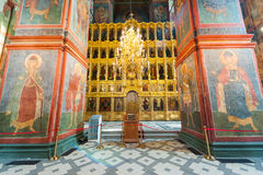 Cathedral of Our Lady of Smolensk iconostasis Royalty Free Stock Images