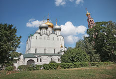 Cathedral of Our Lady of Smolensk. Novodevichiy convent Stock Images