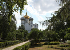 Cathedral of Our Lady of Smolensk. Novodevichiy convent Stock Image
