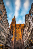 Cathedral of Our Lady of Strasbourg, Alsace, France Stock Image