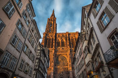 Cathedral of Our Lady of Strasbourg, Alsace, France Royalty Free Stock Photo