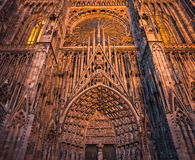 Cathedral of Our Lady of Strasbourg, Alsace, France Royalty Free Stock Image